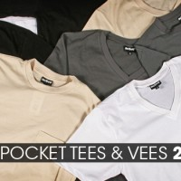 Premium V-Neck and Pocket Tee Blanks