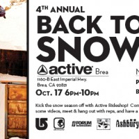 Back to Snow Brea Event