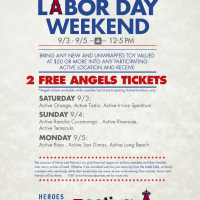 Labor Day Weekend - FREE Angels Baseball Tickets!