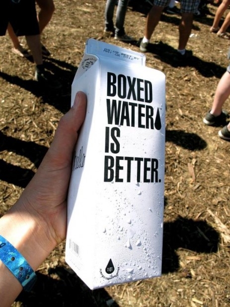 Boxed water was on site, and it IS better!